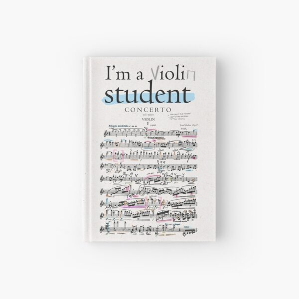 Violin student Hardcover Journal