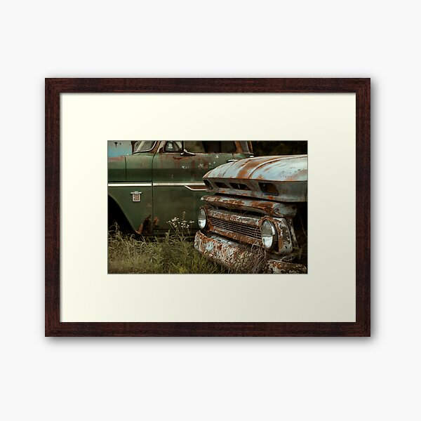 Abandoned 1965 Chevy C-10 - Retired Brothers Framed Art Print