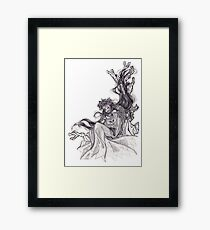Angel hugging a fox Framed Print