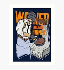 PUBG - Winner, Winner Chicken Dinner Merchandise Art Print