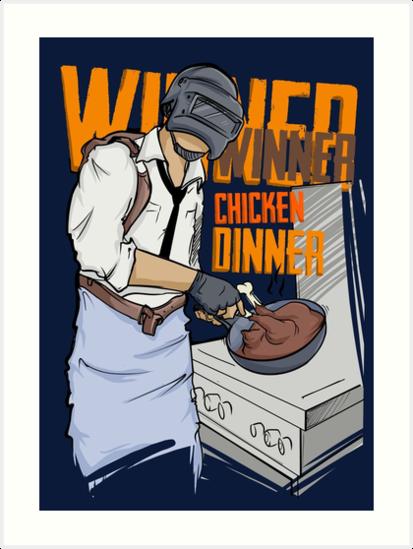Pubg Winner Winner Chicken Dinner Merchandise Art Prints By