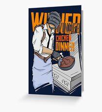 PUBG - Gewinner, Gewinner Chicken Dinner Merchandise Grußkarte
