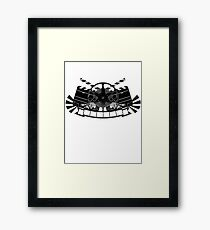 Vintage Style Film Design Framed Print