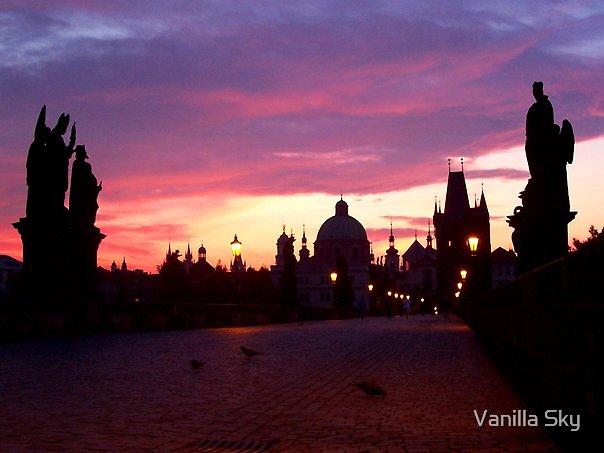 Silhouette on a Vanilla Sky by Vanilla Sky