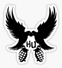 Hollywood Undead Dove and Grenade Sticker