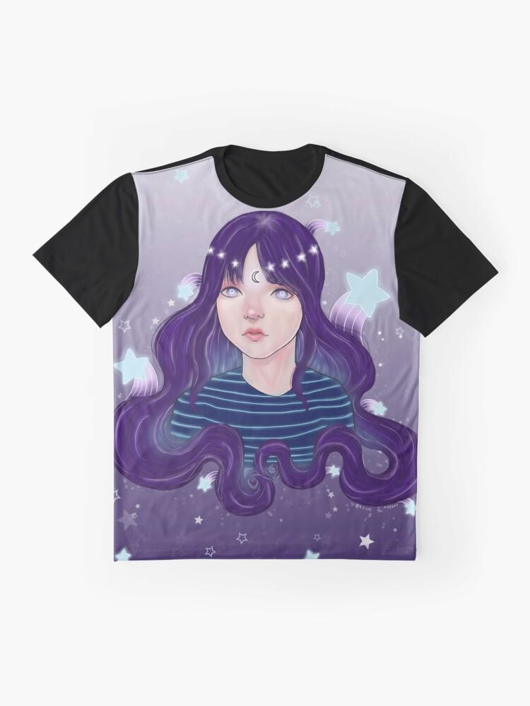 Alternative Ansicht von Sternschnuppen Grafik T-Shirt