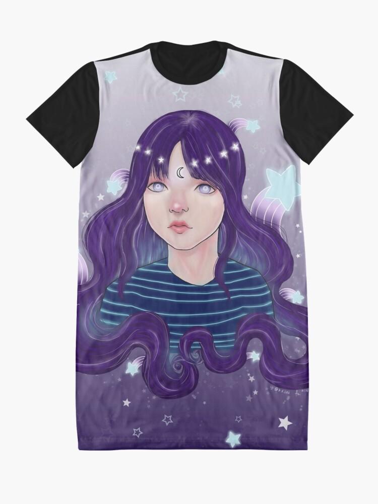 Alternative Ansicht von Sternschnuppen T-Shirt Kleid