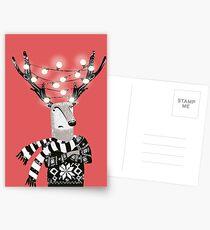 Christmas Bright Reindeer  Postcards