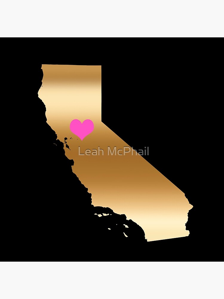 Cailfornia Love on Black Background by LeahMcPhail