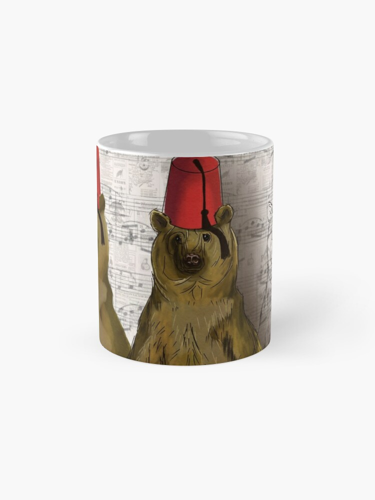 Alternate view of beware the bear Standard Mug