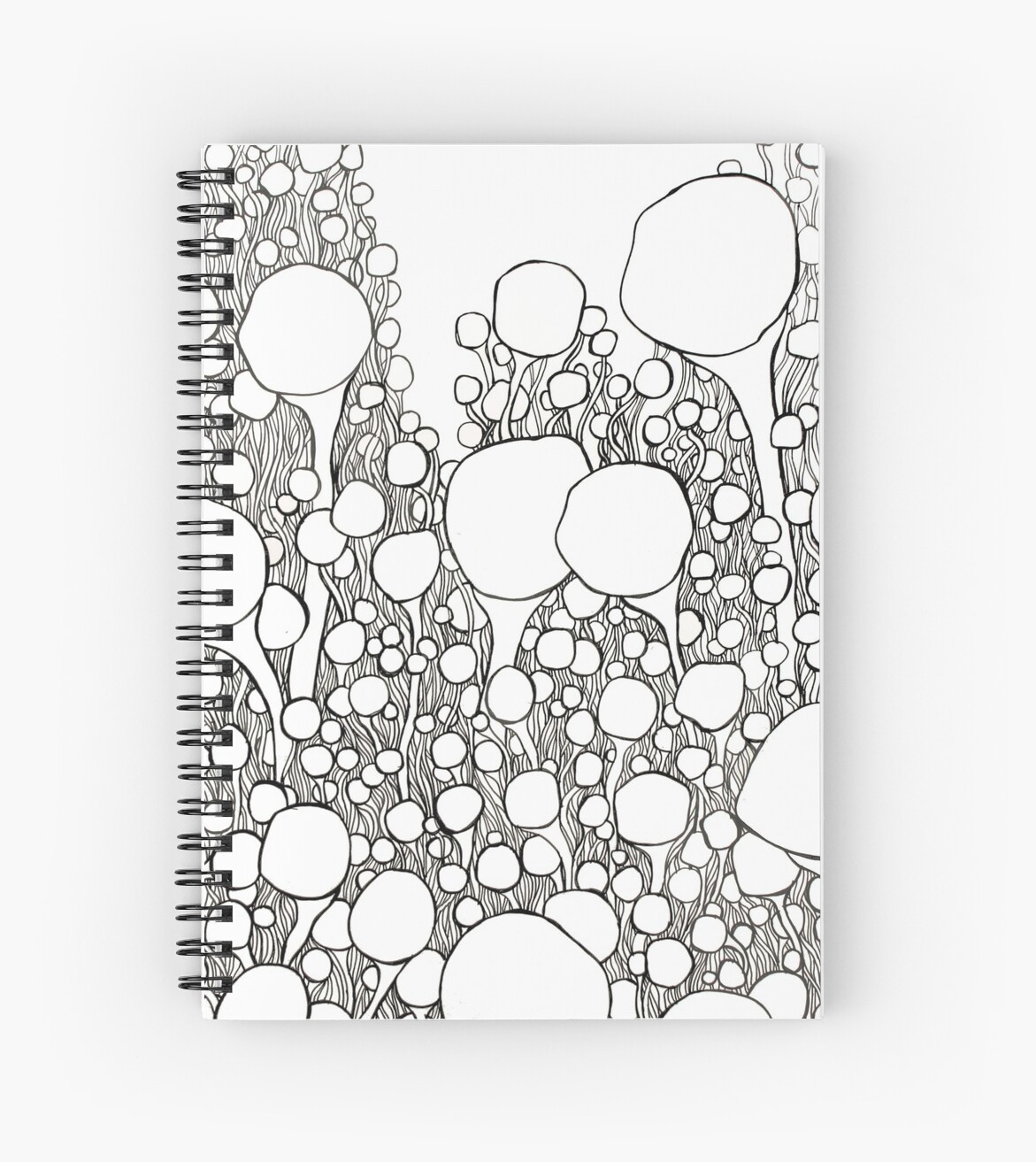 Sprout Abstract Pen Drawing by BHurleyStudio