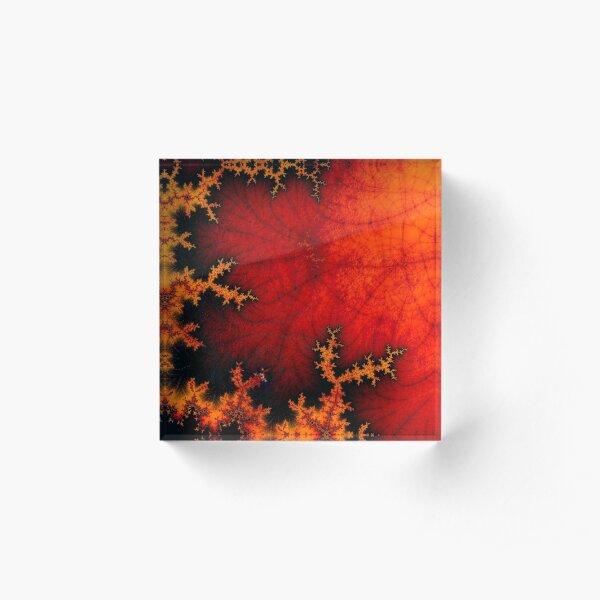volcanic fractal Acrylic Block