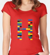 H t-shirt Women's Fitted Scoop T-Shirt