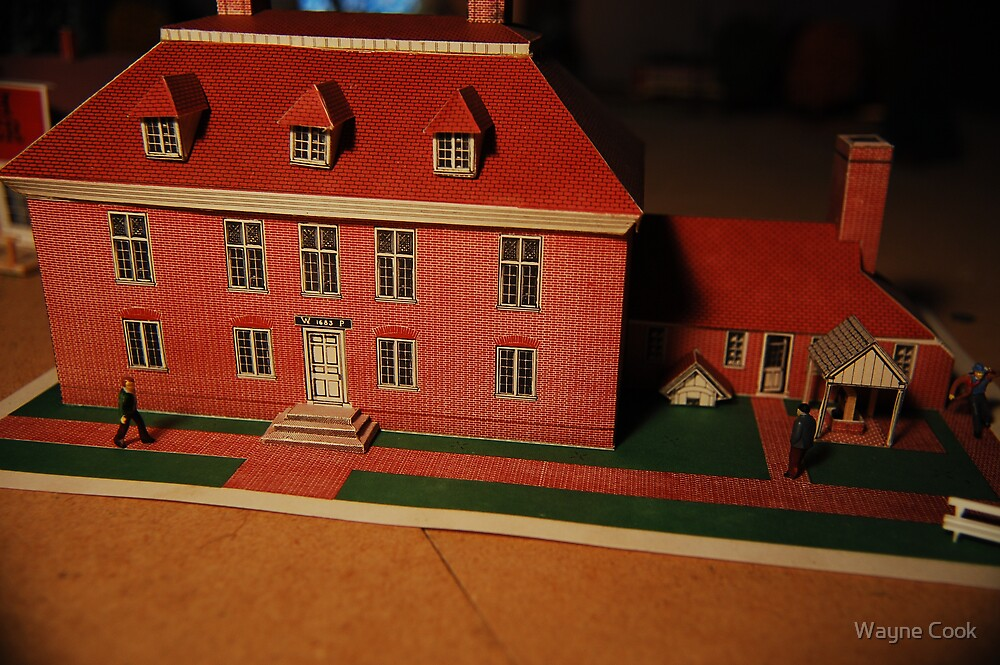 Mansion in 1/87 scale  or HO  by Wayne Cook