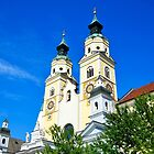 Towers of Brixen Cathedral South Tyrol by Elzbieta Fazel