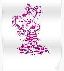 Funny Goofy Pup Tshirt Poster