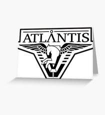 Stargate Atlantis Logo Greeting Card