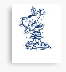 Funny Goofy Pup Shirt Canvas Print