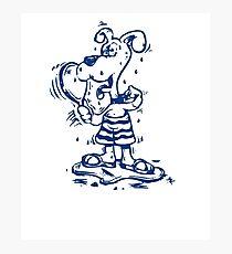 Funny Goofy Pup Shirt Photographic Print