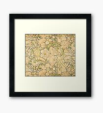 'Peonies' by Alphonse Mucha (Reproduction) Framed Print
