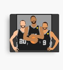 The Spurs' Big 3 Canvas Print