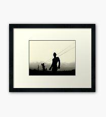 tin Framed Print