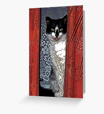 Charlie Barley (the cat) [FluxLimbo] Greeting Card