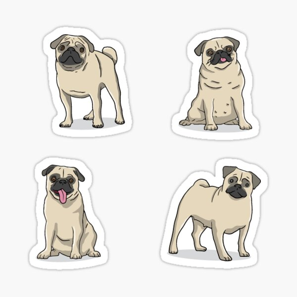 Pug sticker set Sticker