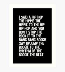 Rappers Delight - Sugarhill Gang Art Print
