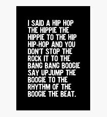 Rappers Delight - Sugarhill Gang Photographic Print