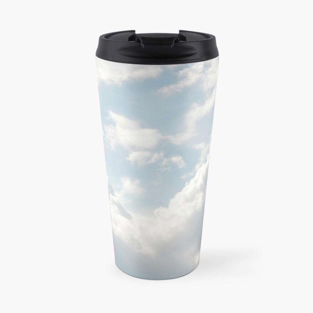 White clouds Travel Mug