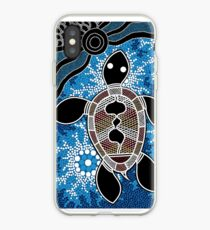 Aboriginal Art Authentic - Sea Turtles iPhone Case