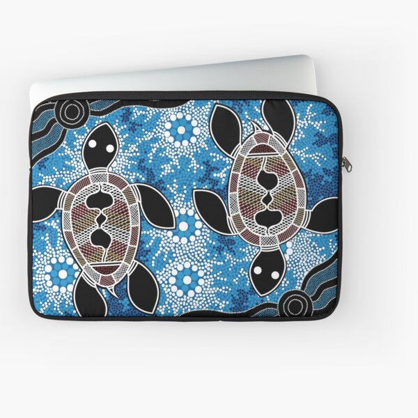 Authentic Aboriginal Art  - Sea Turtles Laptop Sleeve