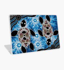 Aboriginal Art Authentic - Sea Turtles Laptop Skin