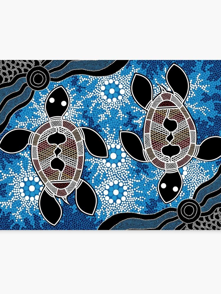Aboriginal Art Authentic Sea Turtles Canvas Print By Hogartharts