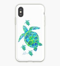 Sea Turtle with babies iPhone Case