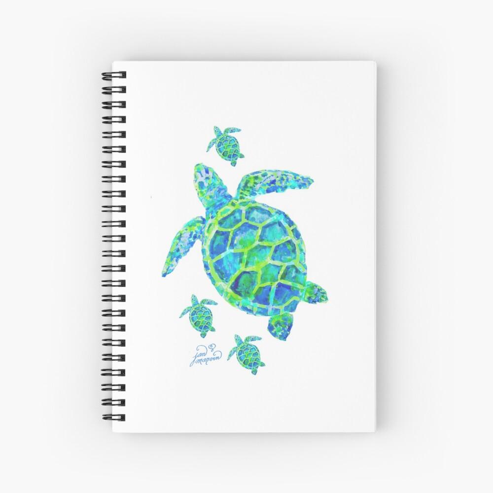 Meeresschildkröte mit Babys Spiralblock
