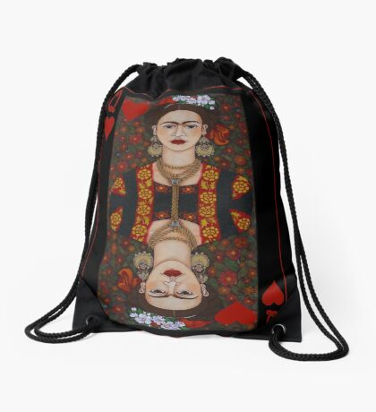 Frida,  Queen of Hearts II Drawstring Bag