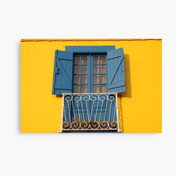 Yellow Blue House Canvas Print