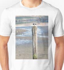 blackand white bird Unisex T-Shirt