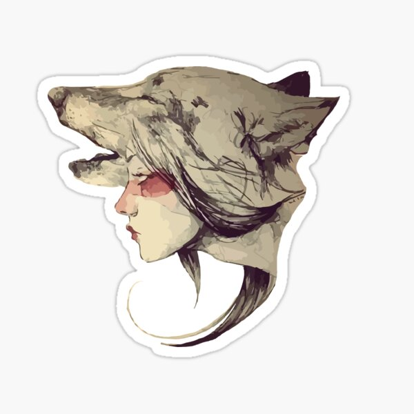 She Wolf Sticker