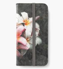 Watercolour Pink and White Petals iPhone Wallet