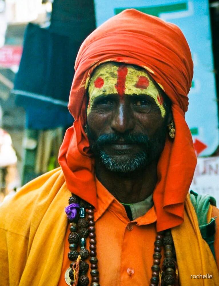 Sadhu, Pushkar India portrait by rochelle