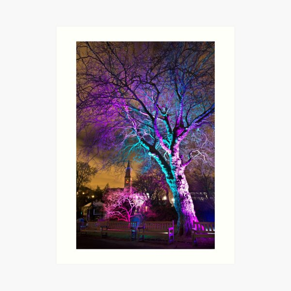 Oran Mor from the Electric Gardens Art Print