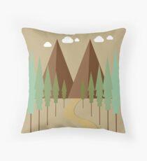 Twin Peaks Throw Pillow