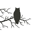 Owl on Branch by Danielle Dewees