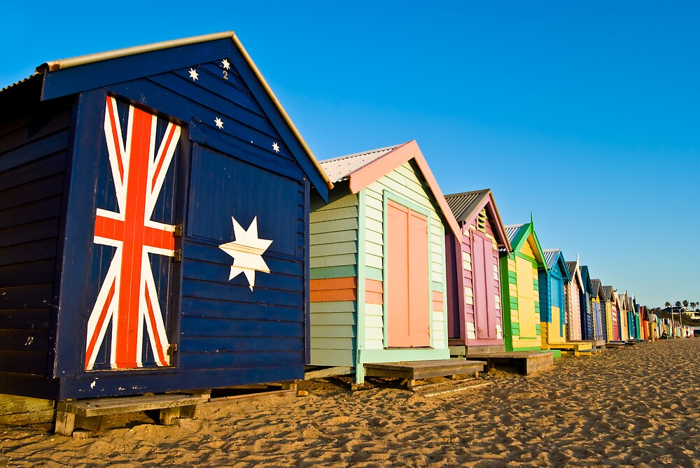 Brighton Beach Huts by Anthony and Kelly Rae