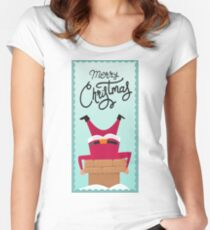 Stuck Santa Women's Fitted Scoop T-Shirt