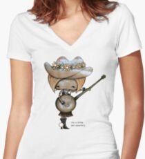 country girl Women's Fitted V-Neck T-Shirt