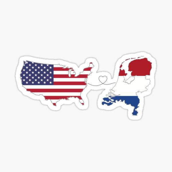 USA - The Netherlands | Long Distance Love Sticker